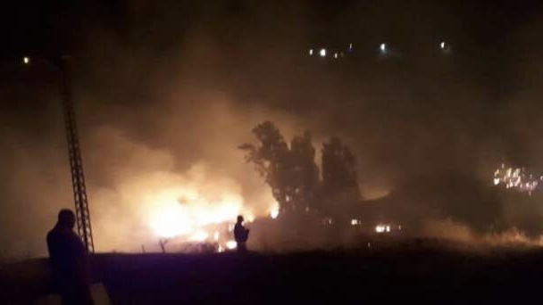 حريق كبير في أحراج وبساتين في عين عرب-راشيا ومناشدة المعنيين للتدخل