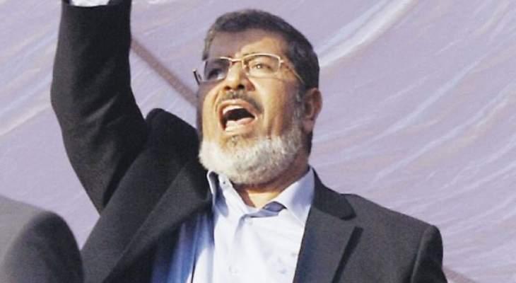 وفاة الرئيس المصري الأسبق محمد مرسي في السجن اثناء محاكمته