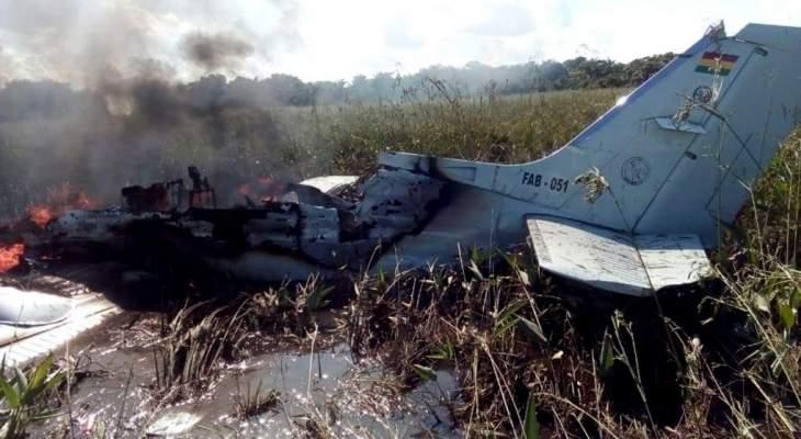 مقتل 6 أشخاص بينهم 4 إسبان نتيجة تحطم طائرة عسكرية بوليفية