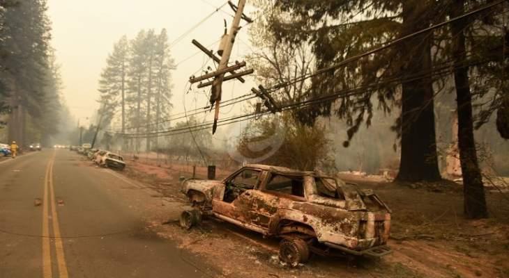 ارتفاع حصيلة ضحايا حريق كاليفورنيا الى 87 قتيلا