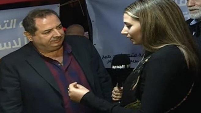 وقفة تضامنية مع الخبير الإقتصادي حسن مقلد والإعلامية جوزفين ديب في وسط بيروت