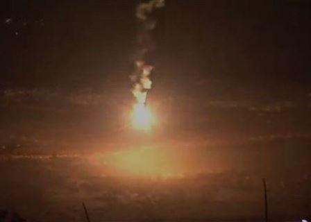 العدو الإسرائيلي اطلق قنابل مضيئة فوق منطقة سهل الخيام