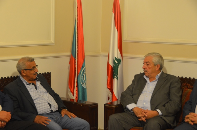 بالفيديو والصور..أسامة سعد يستقبل نائب رئيس حركة فتح محمود العالول  على رأس وفد من الحركة