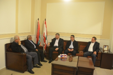 أسامة سعد يستقبل أبو عماد الرفاعي مسؤول حركة الجهاد الإسلامي في لبنان