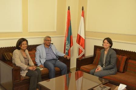 أسامة سعد يستقبل المديرة الجديدة للمركز الثقافي الفرنسي