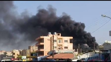 بالفيديو والصور: حريق في شركة لتعبئة الغاز في سبلين