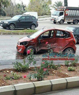 بالفيديو والصور: حادث سير  على طريق مصيلح النبطية