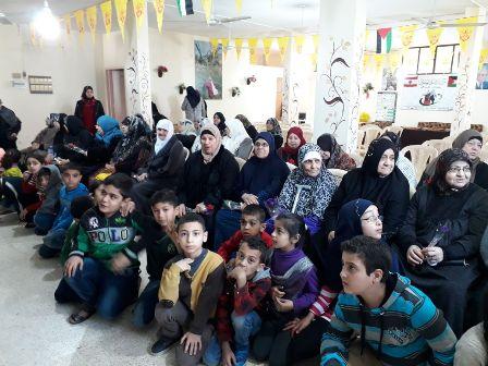 أطفال جمعية نواة- مركز التضامن الاجتماعي يحتفلون بيوم المرأة العالمي