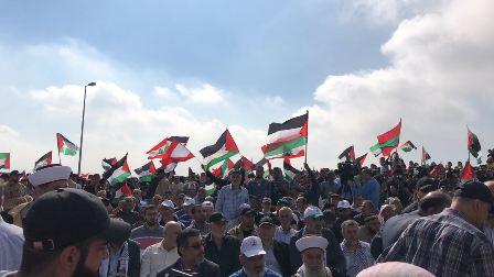 بالفيديو والصور:  تقاطر الجماهير الى قلعة شقيف للمشاركة بالاحتفال الجماهيري في الذكرى السبعين للنكبة