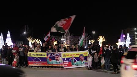 بالصور.... وقفة شبابية في صيدا تضامناً مع فنزويلا ورئيسها مادورو