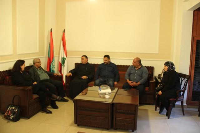 أسامة سعد يستقبل وفدا من لجنة