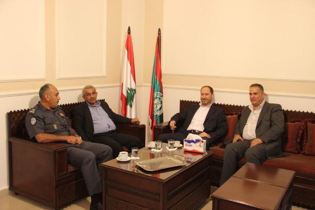 أسامة سعد يستقبل محافظ الجنوب منصور ضو و العميد سمير شحادة