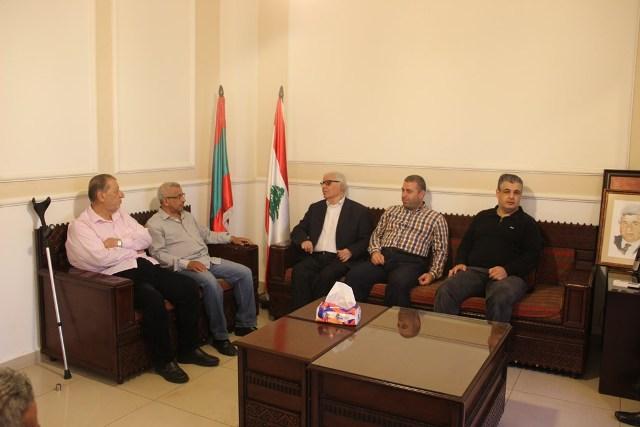 أسامة سعد يستقبل وفدا من اللجان الشعبية الفلسطينية برئاسة أبو بسام المقدح