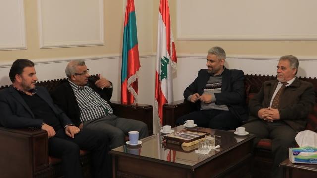 أسامة سعد يستقبل وفداً من جمعية الصداقة الفلسطينية الإيرانية