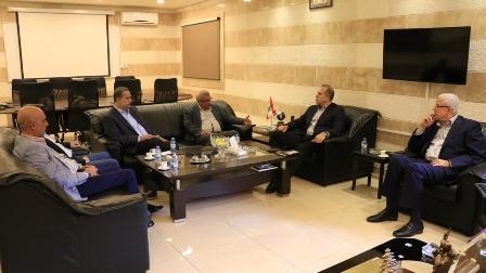 أسامة سعد يلتقي القاضي رهيف مضان والعميد فوزي حمادي للاطلاع على التحضيرات للانتخابات