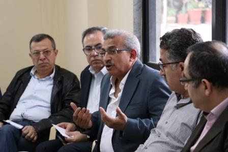 بالصور..أسامة سعد يلتقي تجمع المؤسسات الأهلية  في مقر النجدة الشعبية في صيدا