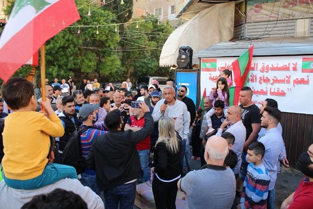 بالفيديو والصور: اعتصام في نزلة صيدون في صيدا ضد الغلاء بمشاركة النائب أسامة سعد