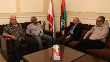 أسامة سعد يستقبل المدير العام الجديد للانروا في لبنان