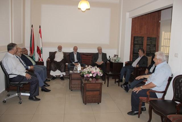 أسامة سعد  يستقبل وفداً من الجماعة الإسلامية زاره للتهنئة بفوزه في الانتخابات النيابية