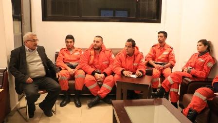 وفد من الانقاذ الشعبي يزور الدكتور أسامة سعد ويعرض عليه سلسلة  نشاطاته