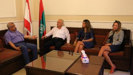 أسامة سعد يستقبل رئيس بلدية البرامية جورج سعد ومنظمي مهرجان البلدة