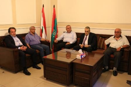 أسامة سعد يستقبل وفد القيادة القطرية لحزب البعث و