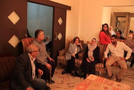 بالصور.. أسامة سعد يزور عائلة البيطار في عبرا الجديدة