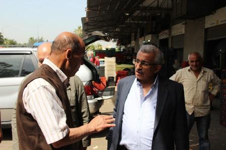 أسامة سعد يجول في حسبة صيدا ويطلع على أحوال التجار والعاملين فيها