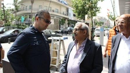 بالصور.. جولة الدكتور أسامة سعد في شارع رياض الصلح