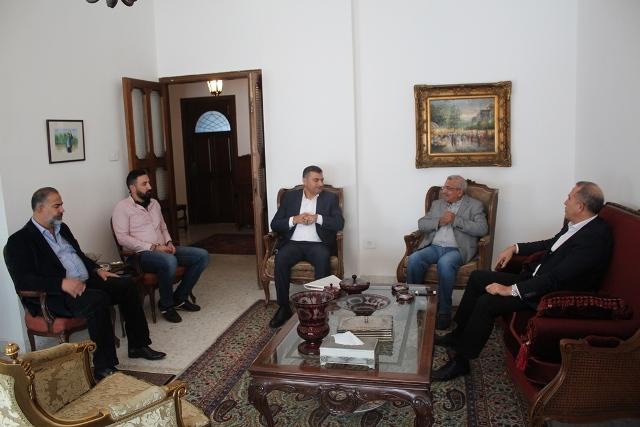 أسامة سعد يستقبل العميد فوزي حمادي والعقيد سهيل حرب