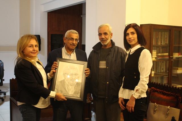 أسامة سعد يستقبل الفنان التشكيلي باسم بلدي ويؤكد على أهمية رعاية الفن لما له من أهمية في رقي المجتمع وتطوره