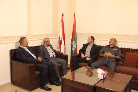 أسامة سعد استقبل المحافظ منصور ضو والعميد سمير شحادة