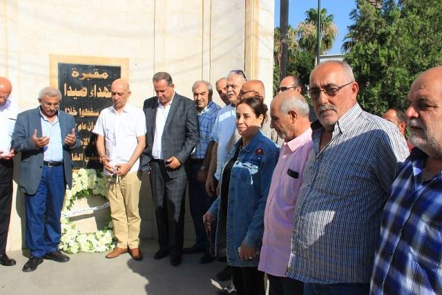 بالصور..أسامة سعد يضع إكليلاً  من الزهر على ضريح الشهداء في ذكرى الاجتياح الاسرائيلي