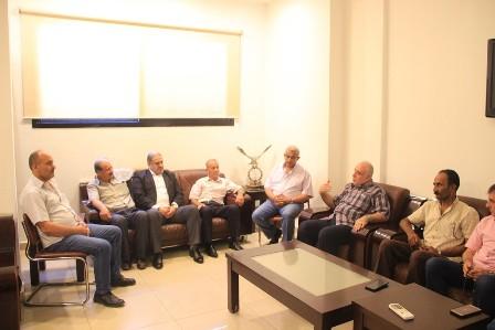 أسامة سعد يبحث مشكلة  البوابات الالكترونية مع وفد القيادة الفلسطينية  ويتصل بالرئيس بري لايجاد حل للمشكلة