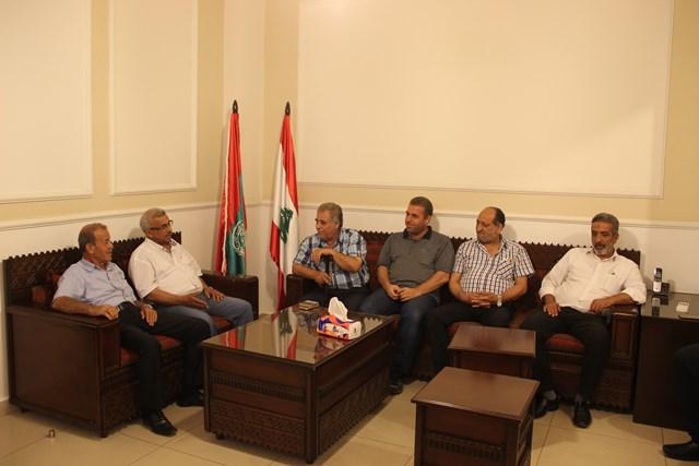 بالصور.. أسامة سعد يستقبل وفداَ من قوى التحالف الوطني الفلسطيني، ووفداً من حركة أنصار الله