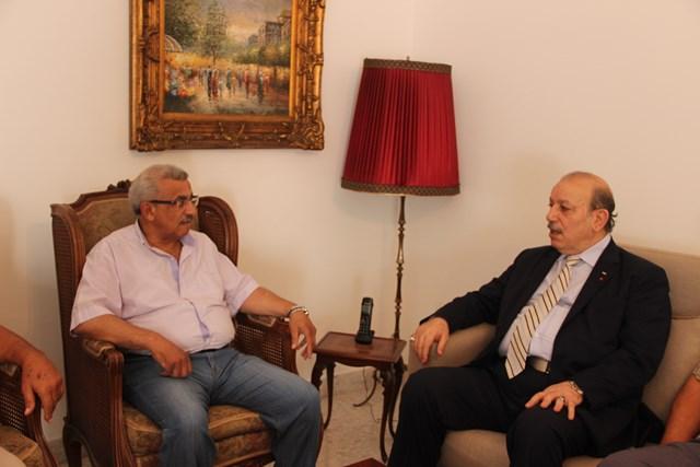 أسامة سعد  يستقبل سفير دولة فلسطين في البحرين ويبحث معه التطورات التي تشهدها الأراضي المحتلة