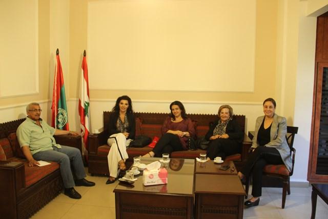 أسامة سعد يستقبل وفدا من الجمعية اللبنانية لمرضى التصلب اللويحي ومدير أكاديمية رفيق يونس