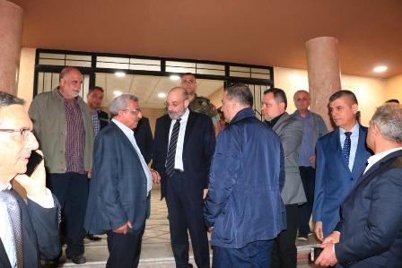 أسامة سعد يستقبل وزير الدفاع يعقوب الصراف