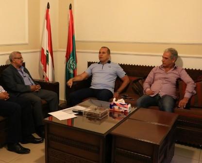 أسامة سعد يستقبل العميد فوزي حمادي والعميد ممدوح صعب