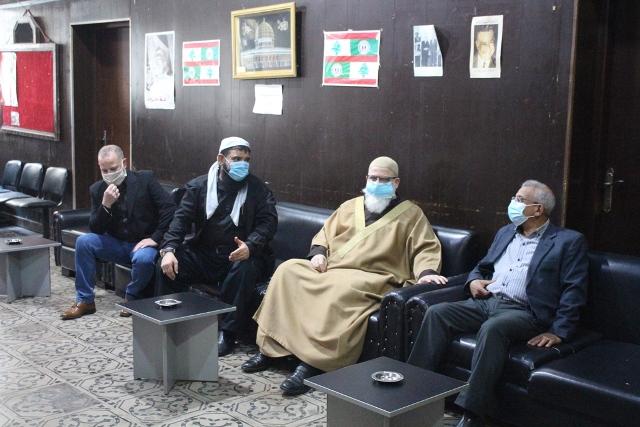 أسامة سعد يستقبل القوى الاسلامية في مخيم عين الحلوة  والبحث في المستجدات على الساحتين اللبنانية والفلسطينية