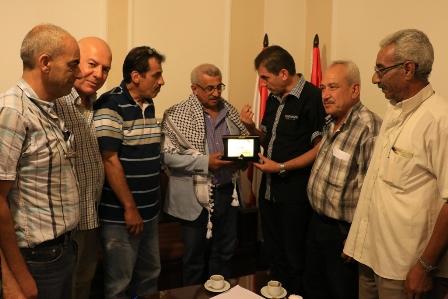 أسامة سعد يؤكد على أهمية الاسراع بمعالجة الأضرار الناتجة عن الأحداث الأخيرة في مخيم عين الحلوة خلال لقائه  بوفود شعبية فلسطينية