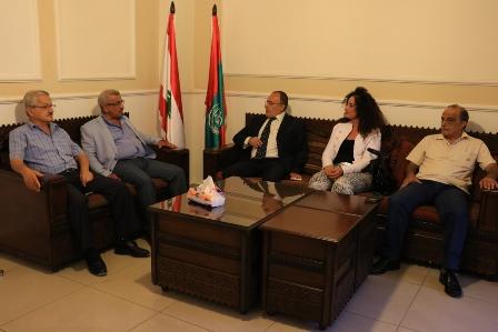 أسامة سعد يستقبل وفدا من التجمع الوطني الديمقراطي برئاسة الدكتور غسان جعفر