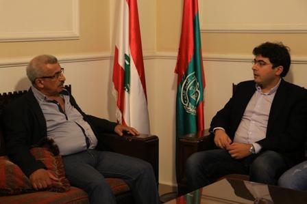 أسامة سعد يستقبل الأمين العام لمركز الخيام لتأهيل ضحايا التعذيب محمد صفا والدكتور سليم خوري