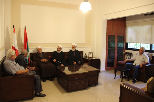 أسامة سعد يستقبل القنصل الفلسطيني محمود الأسدي و وفدا من الهيئة الإسلامية الفلسطينية للرعاية والإرشاد