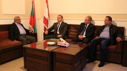 أسامة سعد يستقبل المدير الجديد لمخابرات الجيش في الجنوب العميد فوزي حمادة