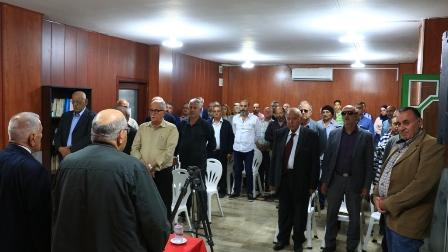 ندوة اللجنة النقابية العمالية في التنظيم الشعبي الناصري  بمناسبة أول أيار عيد العمال العالمي