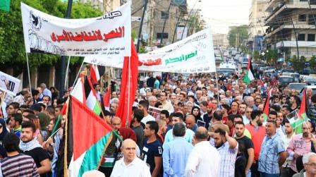 بالفيديو... صيدا: القوى الوطنية والتقدمية نظمت أول مسيرة خارج فلسطين تضامنا مع أنتفاضة الأسرى في سجون الاحتلال