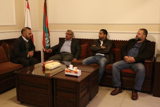 أسامة سعد يستقبل وفدا من الهلال الأحمر الايراني بحضور ممثلين عن الانقاذ الشعبي في مؤسسة معروف سعد