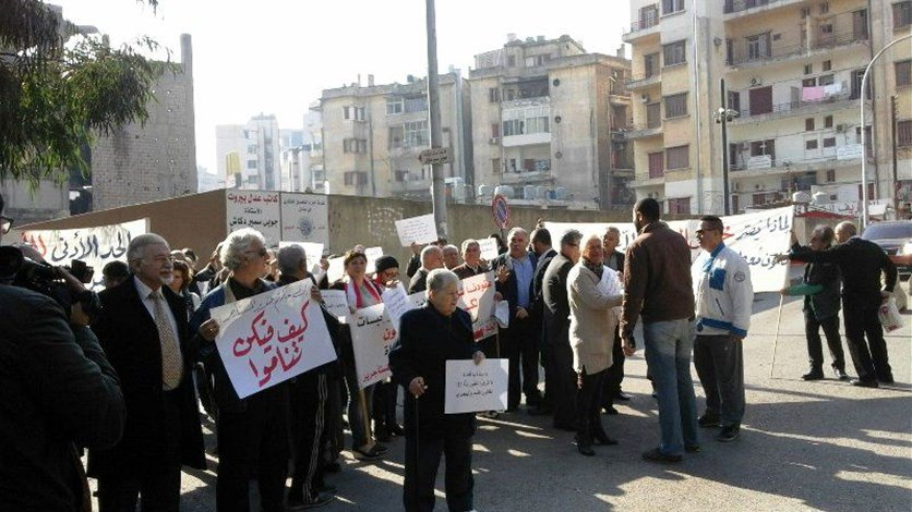 اعتصام للجنة الدفاع عن المستأجرين امام قصر العدل