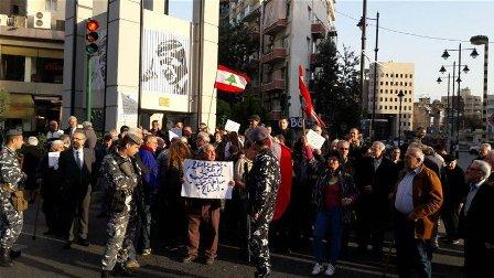المستأجرون اعتصموا مجددا في ساحة ساسين